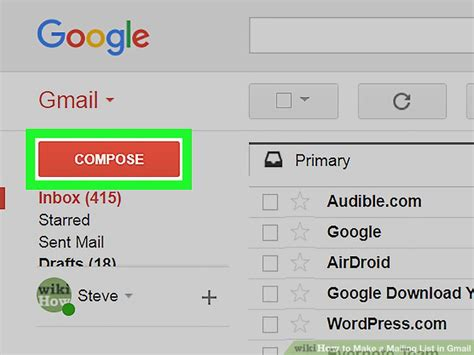 gmail mailing create email address account messages wikihow