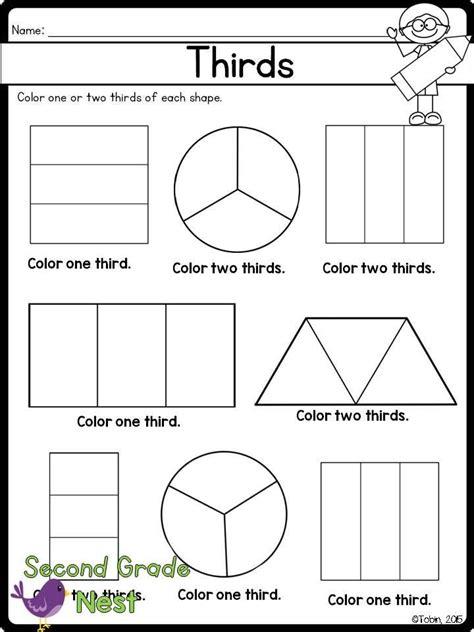 fractions printables math 2nd grade worksheets fractions math fractions