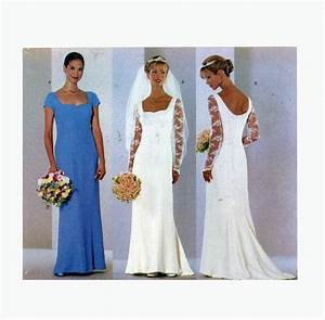 90s wedding dress sewing pattern butterick 6387 brides With sewing wedding dress
