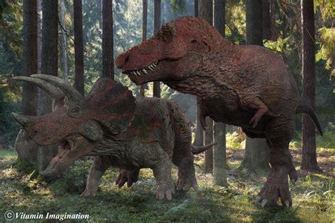 vitamin imagination tyrannosaurus  triceratops