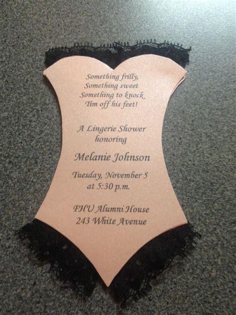 lingerie shower invitations happily