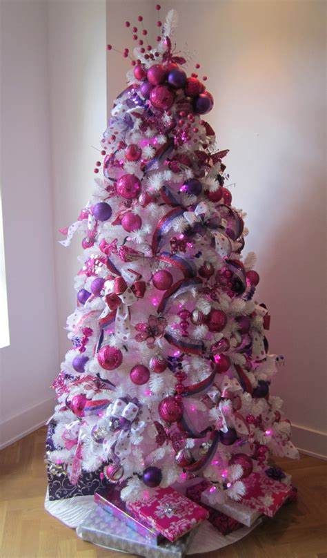 decorating for the holidays with purple and pink purple