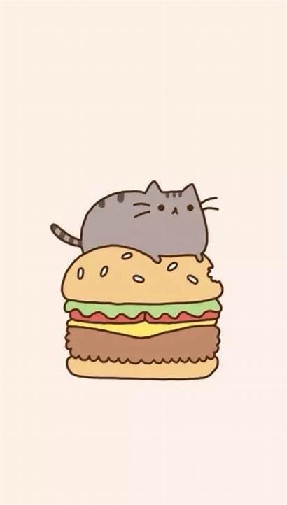 Pusheen Wallpapers Phone Cat Kawaii Iphone Pc