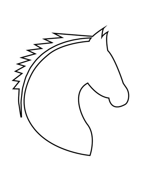 horse head stencil   coloring pages