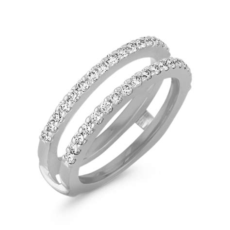 diamond double band solitaire engagement ring guard shane co