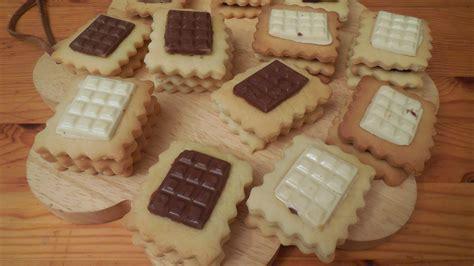petits beurre au chocolat anneauxfourneaux