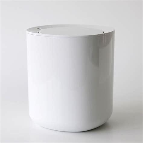 Bad Abfalleimer Design by Alessi Birillo Bathroom Accessories Waste Bin White Black