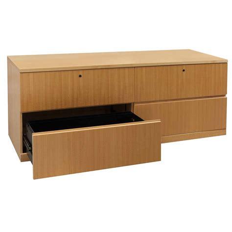 haworth credenza haworth veneer used 4 drawer lateral credenza tiger maple
