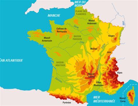 Carte De La Vierge Avec Les Massifs Montagneux by Le Relief Fran 231 Ais Infographie Francetv 201 Ducation