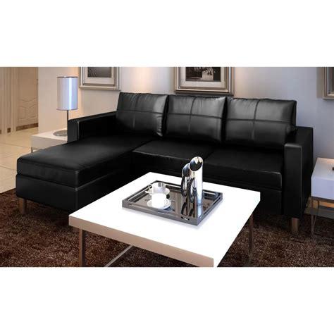 canapé modulable en cuir acheter canapé d 39 angle 3 places modulable en cuir