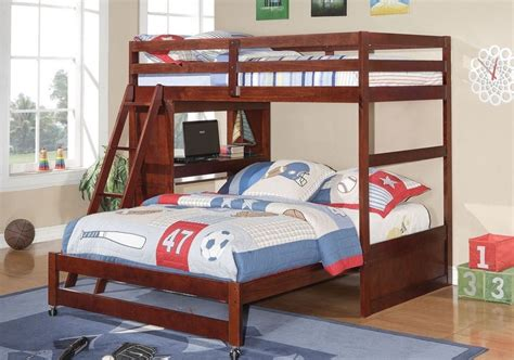 bed with built in desk twin over full loft or bunk bed with built in desk in