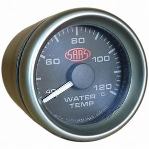 Saas Water Temperature Gauge Black 52mm