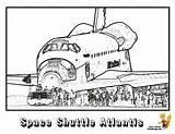 Coloring Space Shuttle Spaceship Atlantis Colouring Nasa Printable Sheet Yescoloring Spectacular sketch template