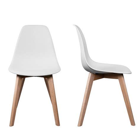 chaises blanches pas cher chaise cuisine blanche et bois wraste com