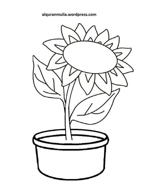 gambar bunga untuk kolase mewarnai gambar bunga anak