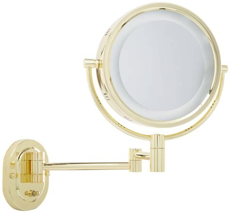gold lighted makeup mirror amazon com jerdon hl65g 8 inch lighted wall mount makeup