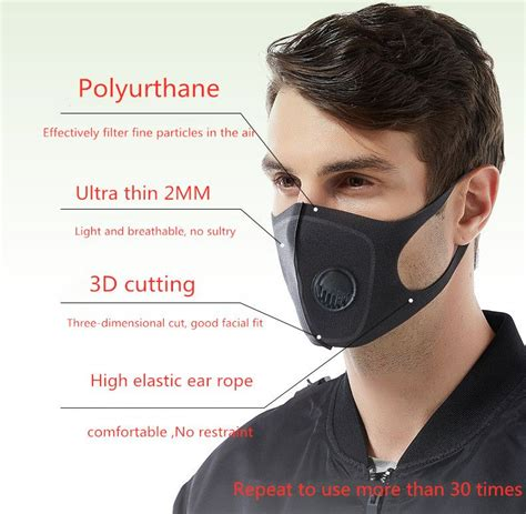 design breathing valve washable anti fog