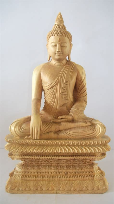 dhammaloka sandalwood art gallery sitting buddha
