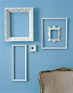 Wall decor and photo frames : White decorating ideas picture frames for bright