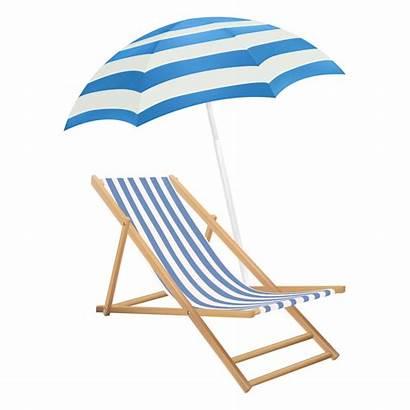 Chair Umbrella Transparent Beach Background Clipart Clip