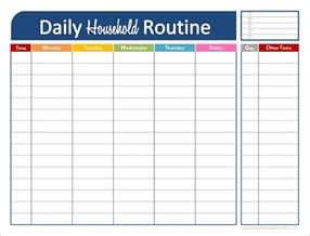 Printable Daily Routine Schedule