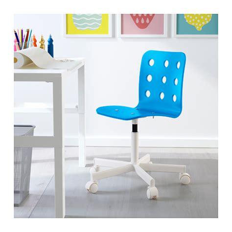 jules junior desk chair blue white ikea