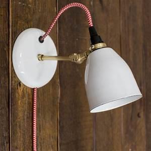 Lovell Porcelain Plug In Sconce Modern Sconce Barn Light