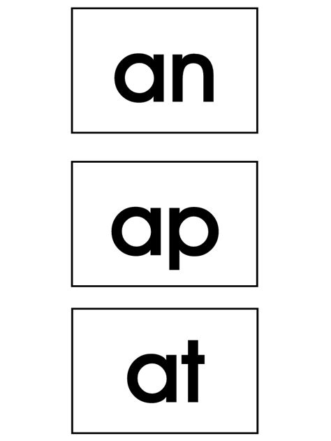 ap  word family labels  images phonics