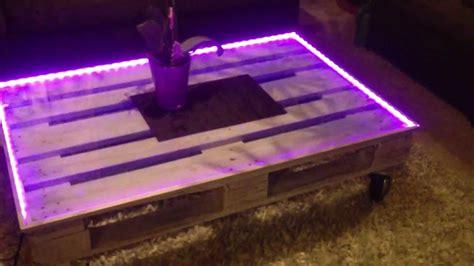 couchtisch palettentisch designer tisch leuchtet mittels