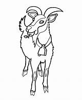 Coloring Pages Goat Herd Goats Animal Ram Wild Head Draw Animals Cliparts Drawing Cows Colouring Comments Sketch Coloringhome Sheet Popular sketch template
