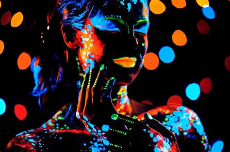 blacklight posters in modern wall decor and their types
