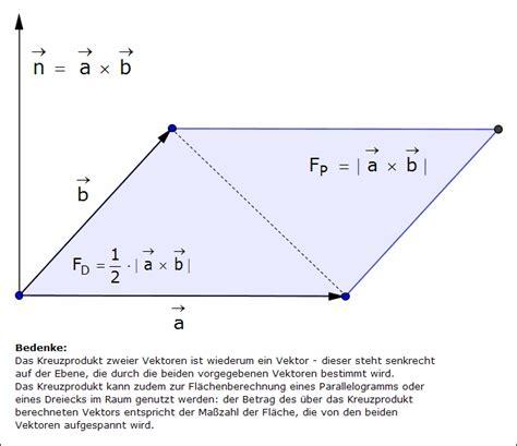 normalenvektor kreuzprodukt wwwmayer ffmde