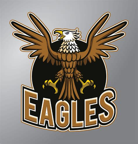 eagle logo design vector  vector