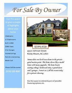 for sale by owner free flyer template by hloomcom With property flyer template free