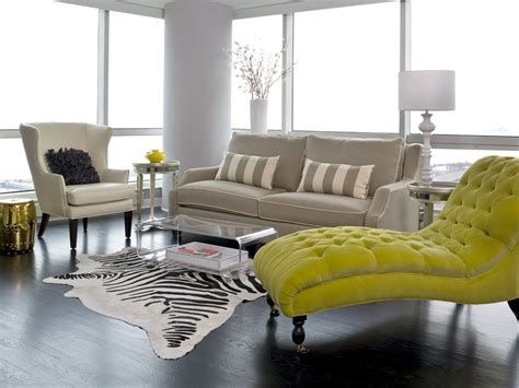 modern chaise lounge chairs living room sofa with chaise living room modern with cowhide rug