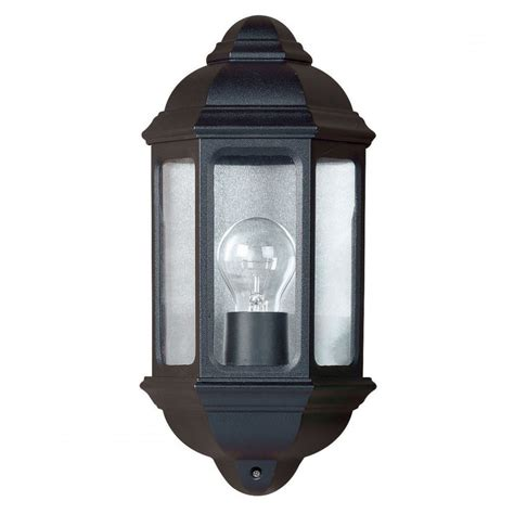 yg 5004 outdoor wall light in black