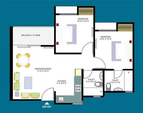 sq ft apartment floor plan inspiration house plans