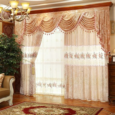 vintage curtains and drapes luxury floral lace suede polyester vintage curtains
