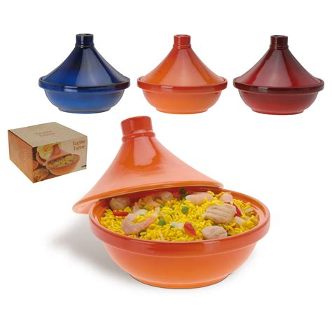 large ceramic tagine moroccan cooking pot serving dish 22cm assorted ebay