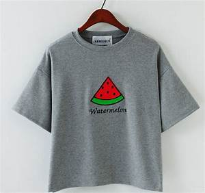 Sweet watermelon Short-Sleeved T-shirt Four Colors ...