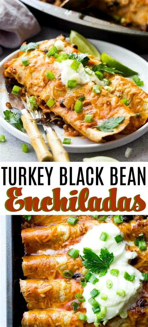 We've also made a similar version to this recipe using cauliflower rice and no cream 2 cups shredded chicken or turkey. Ground Turkey Black Bean Enchiladas - Loaded with ground ...