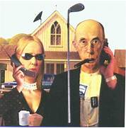 Parody Of The Idea Behind American Gothic Minions