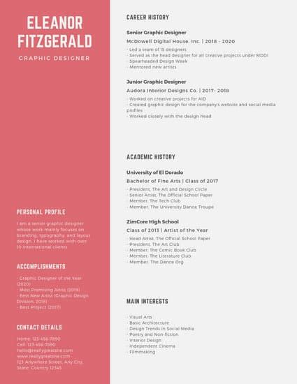 Resume Layout Design by Customize 1 315 Resume Templates Canva