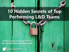 10 Hidden Secrets Of Top Performing L&d Teams  Devlearn 2015