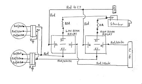 Relay Headlight Wiring Diagram by Diagnosing No Headlight With Relays 260z Electrical