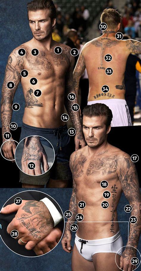 david beckham das bedeuten seine zahlreichen tattoos