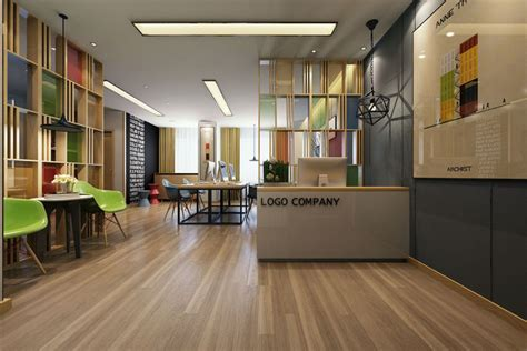 work modern office interior  model cgtrader