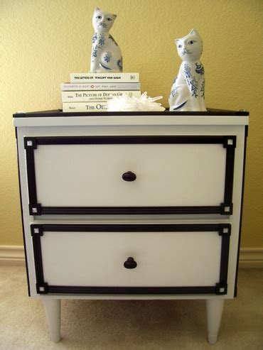 Black And White Nightstands by My Weblog Diy Black White Nightstand