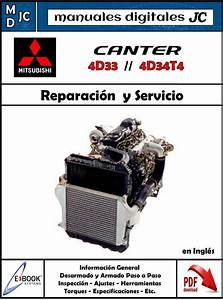 Manual Taller Motor Mitsubishi Fuso Canter 4d33 Y 4d34t4