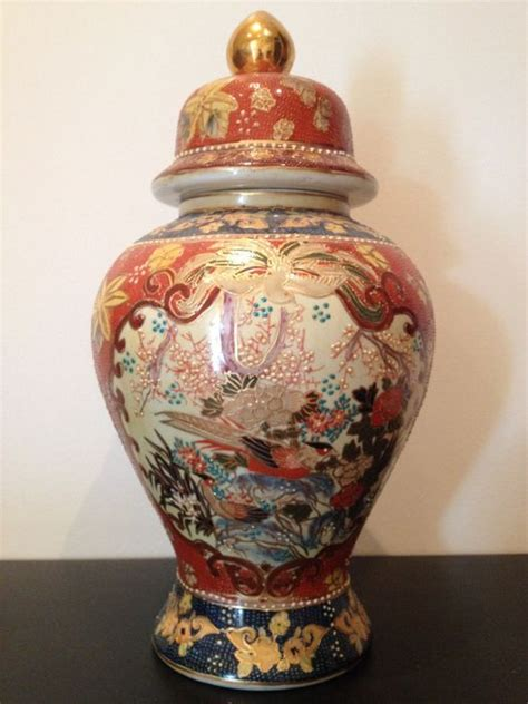 Large Vase With Lid by Large Satsuma Earthenware Vase With Lid China Late